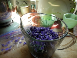 Violet Blossoms from the MAD Goddess's Garden