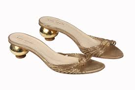 Gold Kitten Heels