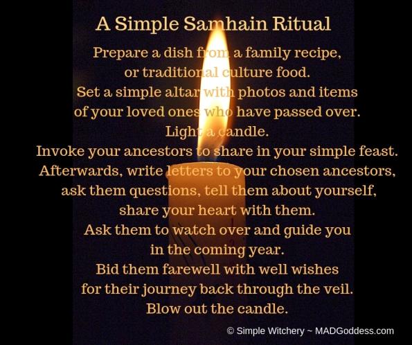 A Simple Samhain Ritual